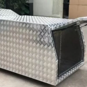 Alloy Canopy 1600 x 1800 x 860 mm Checker Plate