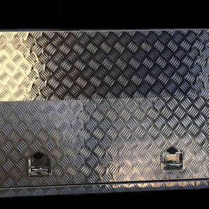 Alloy Toolbox 1400 x 500 x 800 mm Checker Plate with Drawers